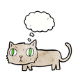 cartoon cat with thought bubble vector image vector image