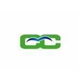 CC logo vector image vector image
