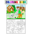 childrens color and coloring book cartoon family vector image vector image