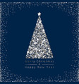 christmas tree silver vector image