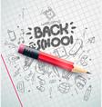 classic pencil back to school concept vector image