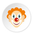 clown icon circle vector image vector image