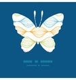 colorful horizontal ogee butterfly vector image vector image