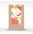 craft paper bag with dried fruits label abstract vector image vector image