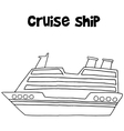 Cruise ship of transportation collection vector image