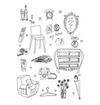 daily supplies vector image vector image