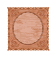 Decorative frame oak leaves and acorns woodcarving vector image vector image