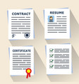 different concept documents for business contract vector image