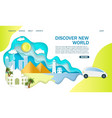 discover new world website landing page vector image vector image