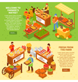 Farm Market Banners Set vector image vector image
