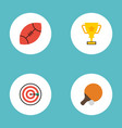 flat icons trophy table tennis arrow and other vector image vector image