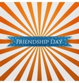 Friendship Day festive blue Ribbon vector image