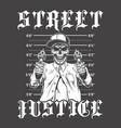gangsta poster with skeleton vector image vector image
