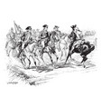 george washington riding with the american army vector image vector image