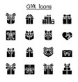 gift box present icon set vector image vector image