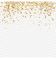 golden confetti festive background christmas vector image