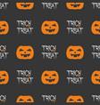 halloween tile pattern with orange pumpkins vector image vector image