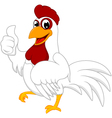 Happy White Chicken with thumb up vector image