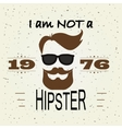 hipster t-shirt design retro style typography vector image vector image
