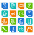 kitchen home appliances on stickers vector image vector image
