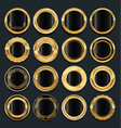 luxury golden design elements collection 4 vector image vector image