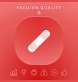 medical plaster adhesive bandage icon vector image