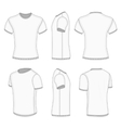 Mens white short sleeve t-shirt vector image vector image
