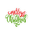 merry christmas lettering calligraphic vector image