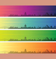 montreal multiple color gradient skyline banner vector image vector image