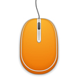 Orange Computer Mouse vector image