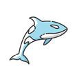 orca rgb color icon vector image