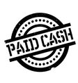 Paid Cash rubber stamp vector image