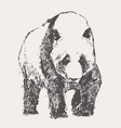 panda hand drawn sketch linear vector image vector image