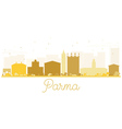 Parma City skyline golden silhouette vector image