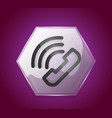 phone support call center button vector image