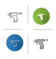 piercing gun icon vector image vector image