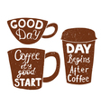 Plastic and paper coffee and tea cups vector image vector image