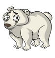 polar bear with sad smile vector image vector image
