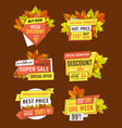 promotion discounts on thanksgiving day isolated vector image vector image