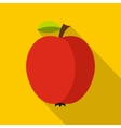 Red apple icon flat style vector image vector image