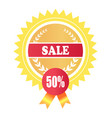 sale premium promotion label special offer 50 vector image