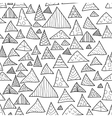 seamless background black and white hipster vector image vector image