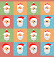 seamless pattern christmas funny background vector image