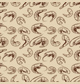 seamless pattern with shrimps design element vector image