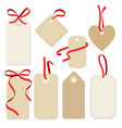 set blank vintage frames gift tags labels vector image