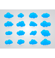 set of Blue clouds vector image vector image