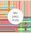 set of seamless colorful patterns for textile vector image vector image