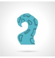 Single blue tentacle flat icon vector image vector image