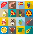 Spain icons set flat style vector image