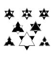 Stars icons set vector image